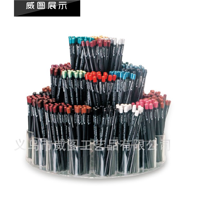 LA-251 --weitu 17 hot sale Round rotation table acrylic pencil display